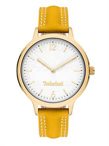 Yellow Brown Leather Strap