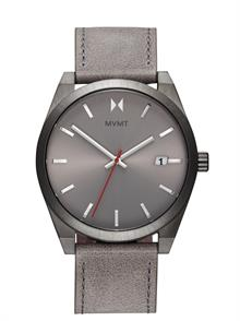 Radium Grey Leather Strap