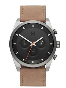 Graphite Sand Leather Strap