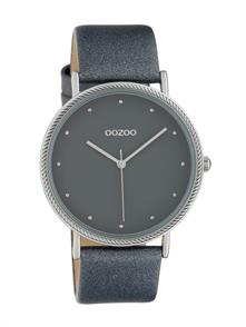 Dark Grey Leather Strap