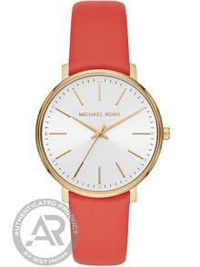 Coral Red Leather Strap