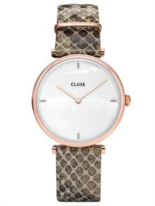 Soft Brown Croco Leather Strap