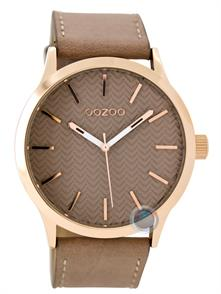Large Browngrey Leather Strap