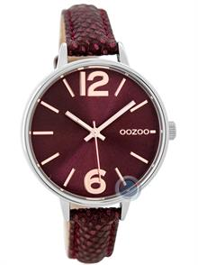 Whine Red Leather Strap