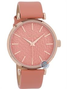 Coral Leather Strap